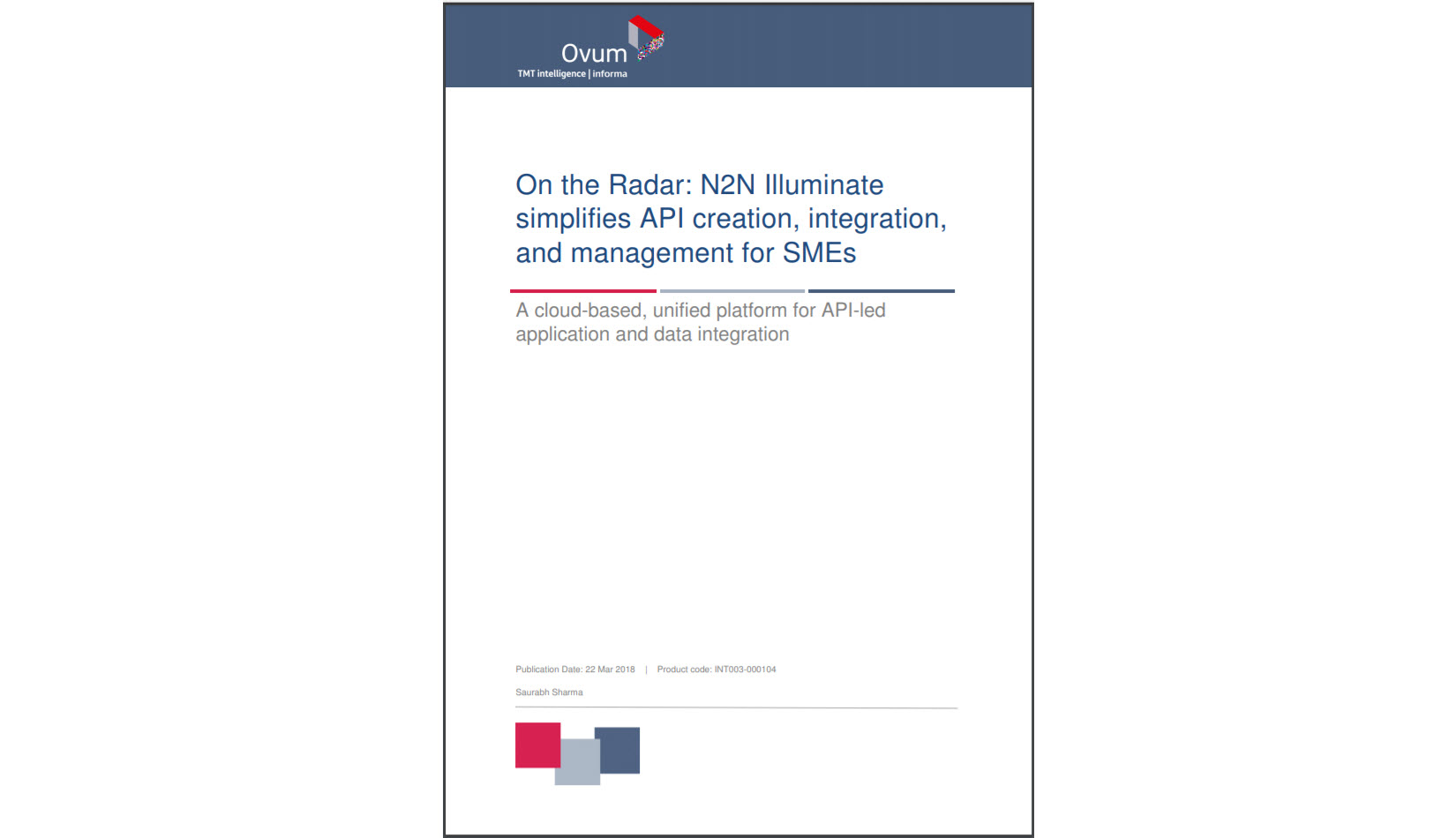 Leading Analyst Firm Recognizes N2N's Illuminate Platform for rapid API creation and API management capabilities.